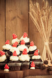 Autumnal Cupcakes Royalty Free Stock Photo