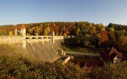 Autumnal dam Royalty Free Stock Photo