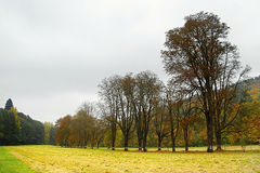 Autumnal day in Bezrucovo udoli valley in Krusne hory moutains Royalty Free Stock Image