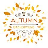 Autumnal design Stock Image