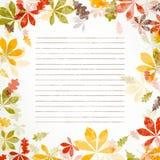 Autumnal design Stock Images