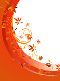 Autumnal design. Vector illustration of colorful autumnal leaves on an abstract background Royalty Free Stock Photo