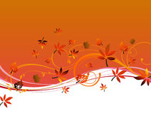 Autumnal design Stock Images