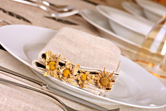 Autumnal dining table Stock Image