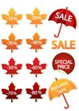 Autumnal discount Stock Images