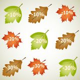 Autumnal discount Stock Image