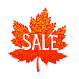 Autumnal discount concept Royalty Free Stock Photo