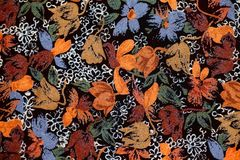 Autumnal fabric background Stock Image