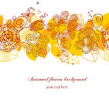 Autumnal flowers background Stock Images