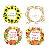 Autumnal frames Royalty Free Stock Photography