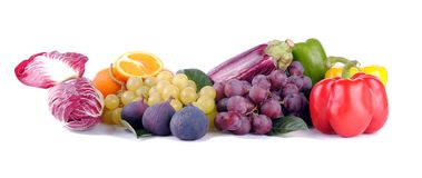 Autumnal fruit and vegetables Royalty Free Stock Photo