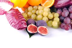 Autumnal fruit and vegetables Stock Images