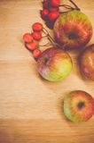 Autumnal fruits still life Royalty Free Stock Photography