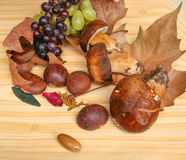 Autumnal fruits and  vegs Royalty Free Stock Photo