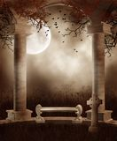 Autumnal gothic scenery Stock Image