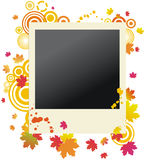 Autumnal grunge polaroid photo frame Stock Image
