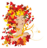 Autumnal haircut on white background Stock Images