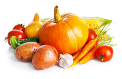 Autumnal harvest fresh vegetables Stock Photo