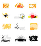 Autumnal icons. Illustration of autumnal icons against the white background Royalty Free Stock Photo