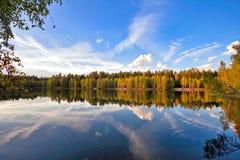 Autumnal lake Stock Photo