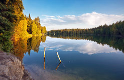 Autumnal lake Stock Photos
