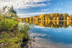 Autumnal lake Royalty Free Stock Image
