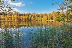 Autumnal lake Stock Photography