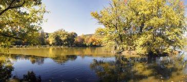 Autumnal lake panorama Stock Photo