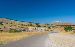 Autumnal landscape on Ai-Petri mountain tableland in Crimean peninsula. Beautiful autumnal landscape on Ai-Petri mountain tableland in Crimean peninsula Royalty Free Stock Image