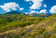 Autumnal landscape in Gurzufskaya valley Stock Photo