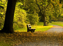 Autumnal Landscape In The Park Royalty Free Stock Photo