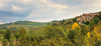 Autumnal landscape. Piedmont, Italy. Royalty Free Stock Photography