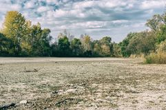 Autumnal Landscape With Dried Up Lake Royalty Free Stock Image