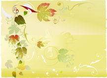 Autumnal leaf background royalty free illustration