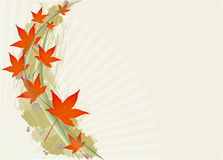 Autumnal leaf background. Computer generated background with autumn leaves Royalty Free Stock Photos