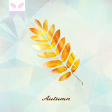 Autumnal leaf background made of triangles. Royalty Free Stock Photos