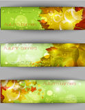 Autumnal leaf background, vector illustration Royalty Free Stock Images