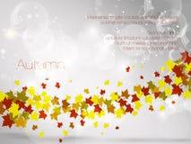 Autumnal leaf background, vector illustration. Abstraction, art Royalty Free Illustration