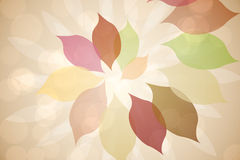 Autumnal leaf pattern in warm tones Royalty Free Stock Photo