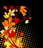Autumnal leaves. Background with bright colors for seasonal design stock illustration