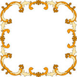 Autumnal Leaves Border Frame Royalty Free Stock Photography