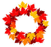 Autumnal leaves frame Royalty Free Stock Photography