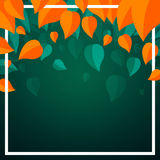 Autumnal Leaves. Illustration of an Autumn Design with Autumnal Leaves Stock Photography