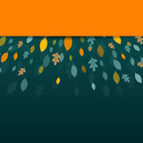 Autumnal Leaves. Illustration of an Autumn Design with Autumnal Leaves Stock Photo