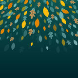 Autumnal Leaves. Illustration of an Autumn Design with Autumnal Leaves Stock Images