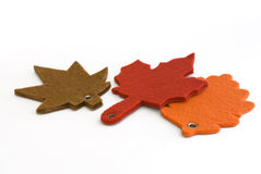 Autumnal leaves made from felt Stock Images