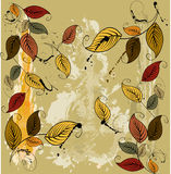 Autumnal leaves seamless background Stock Photos