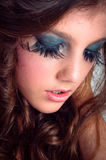 Autumnal makeup on beautiful young model Royalty Free Stock Photo