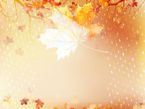 Autumnal maple leaf made of triangles. EPS 10 Stock Photo