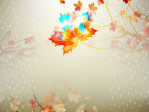 Autumnal maple leaf made of triangles. EPS 10 Royalty Free Stock Photos